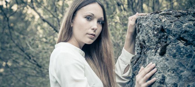 mit Saskia im Steinbruch (06/2018)